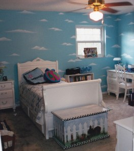 We researched clouds for the right look for Katelyn's new bedroom in 2001