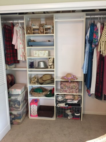 Guest room closet after