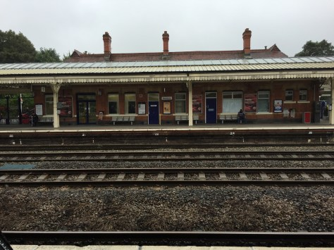 The train station at Newbury - I can almost imagine Mary or Edith waiting on the platform
