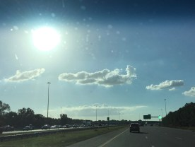 A jet-shaped cloud on the way to the airport