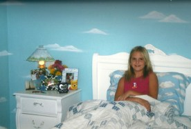 My girl in her cloudy room