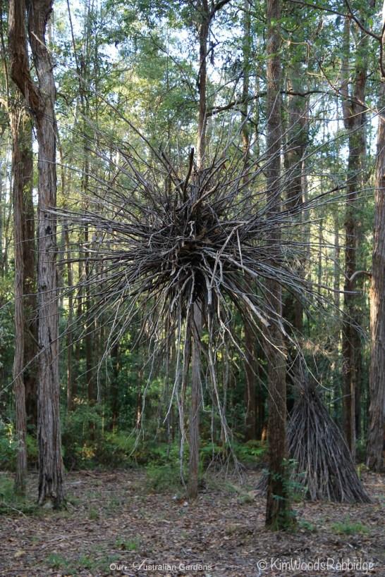 Suspended 2m twig sculpture.