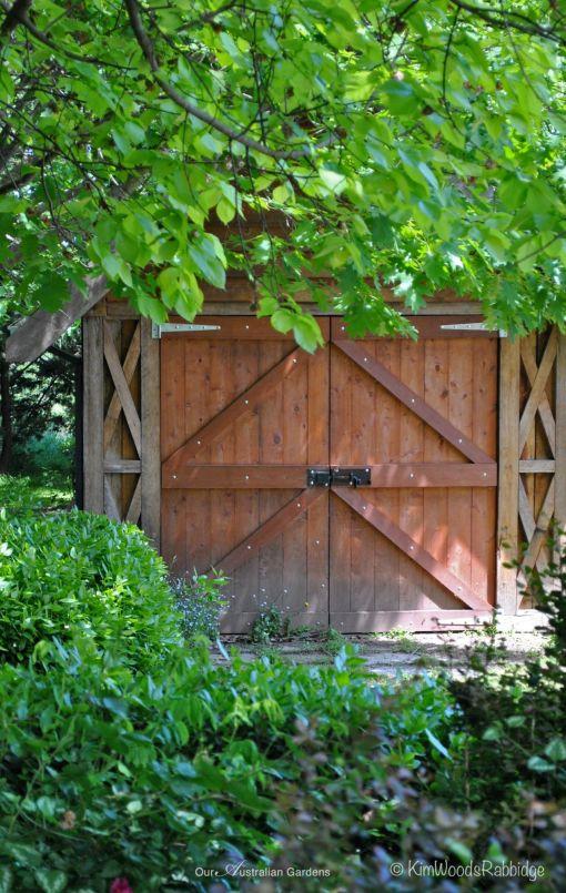 Garden shed door©Kim Woods Rabbidge