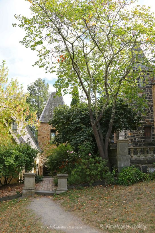 Quaint buildings nestled amongst the gardens are private spaces for practising artists.