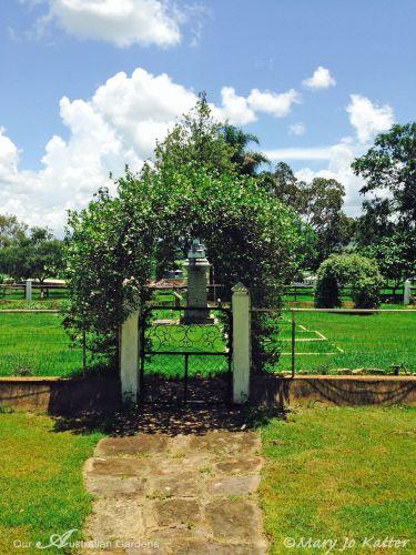 A verdant 'lych' gate.