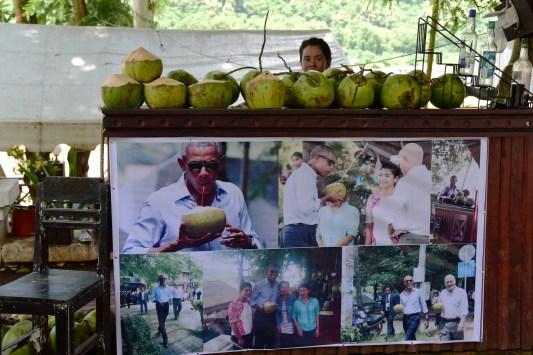 Obama's coconut stall