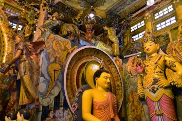 Buddhas Statues (Gangaramya Temple) - Photography by Kimy Chang
