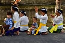 Devotees praying on the roadside