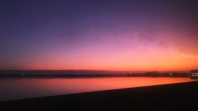 закат в Калифорнии