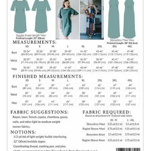 learn to sew dress patterns size chart