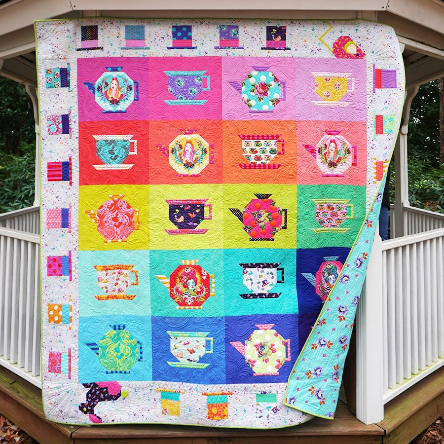 Tula Pink Quilted Blanket