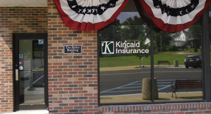 Storefront at Kincaid Insurance in Rockport, Indiana