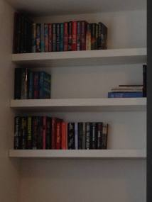 And I unpacked some of my books to make it more homey