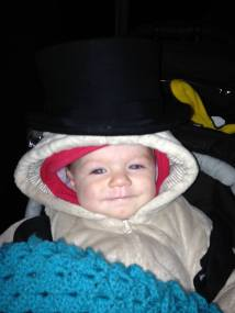 Choochie liked the top hat too