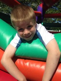 August 2016 - Tadpole on a bouncy castle