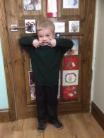 January - Choochie's first day of nursery!