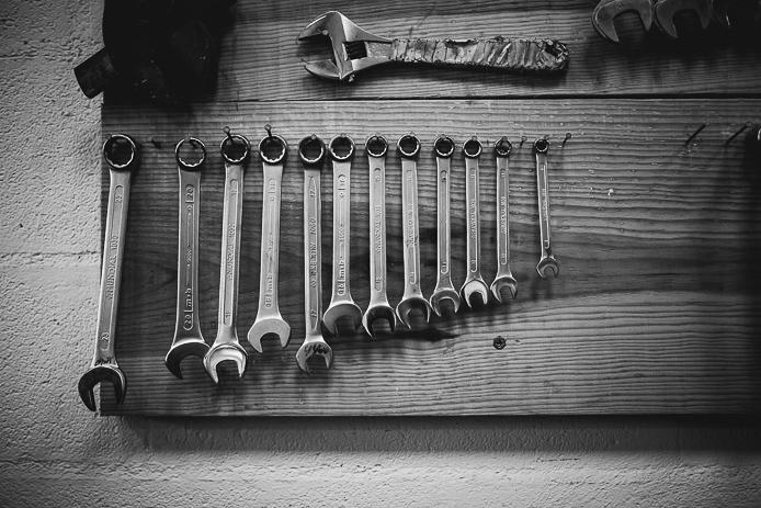 Outils de l'atelier de la Ruche Moderne à Anglet