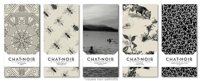 Tablettes de chocolat design  gamme monolithe de Chat Noir.