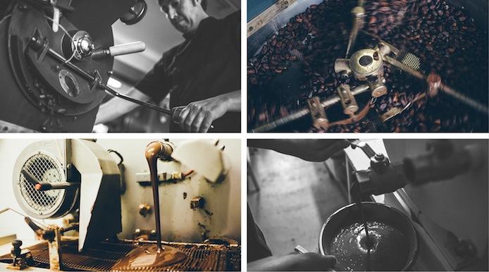 Etapes fabrication tablettes de chocolats par Chat Noir.