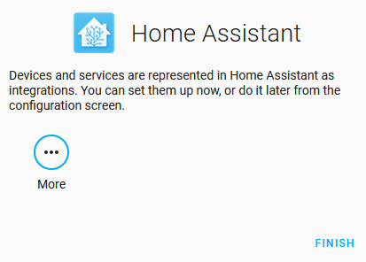 Home Assistant Configuration - Optionally Setting Up Devices and Integration During the Initial Setup