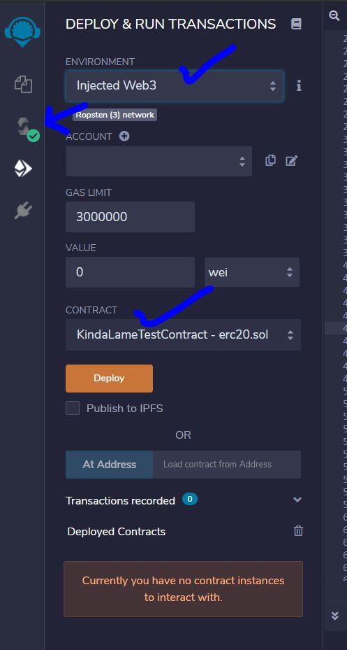 Deploy and Run Transaction on Ethereum - Deploy Smart Contract for ERC-20