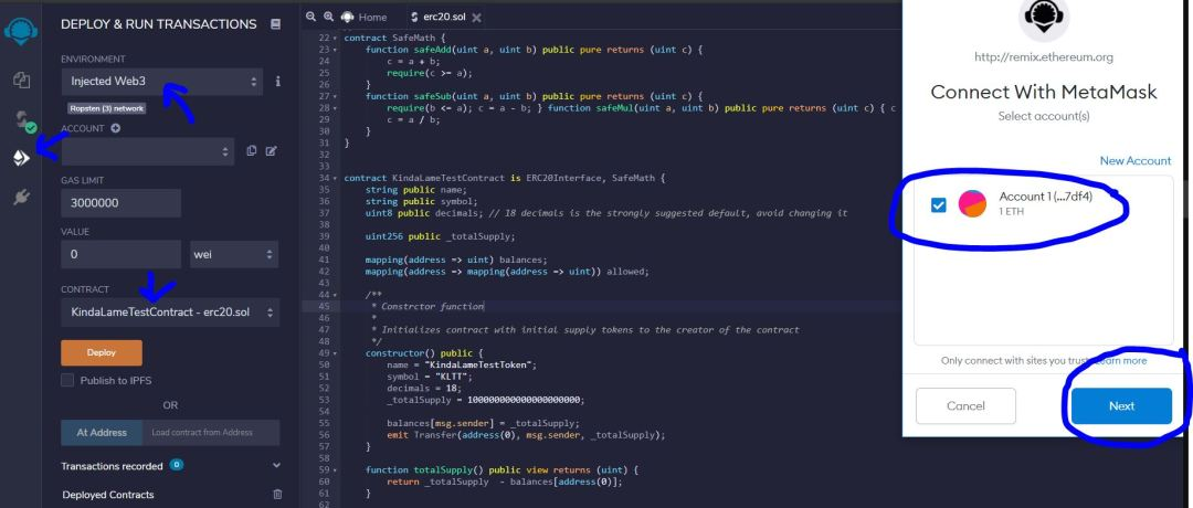 Connect Metamask to Remix IDE