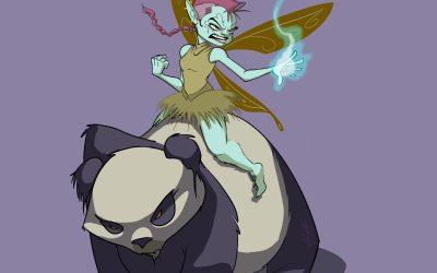 Pixies on Pandas! Illustration