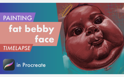 fat bebby face painting in Procreate | Timelapse video