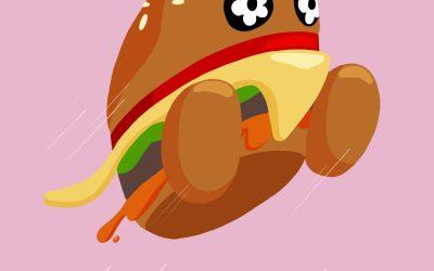 Vandy the Burger Illustration