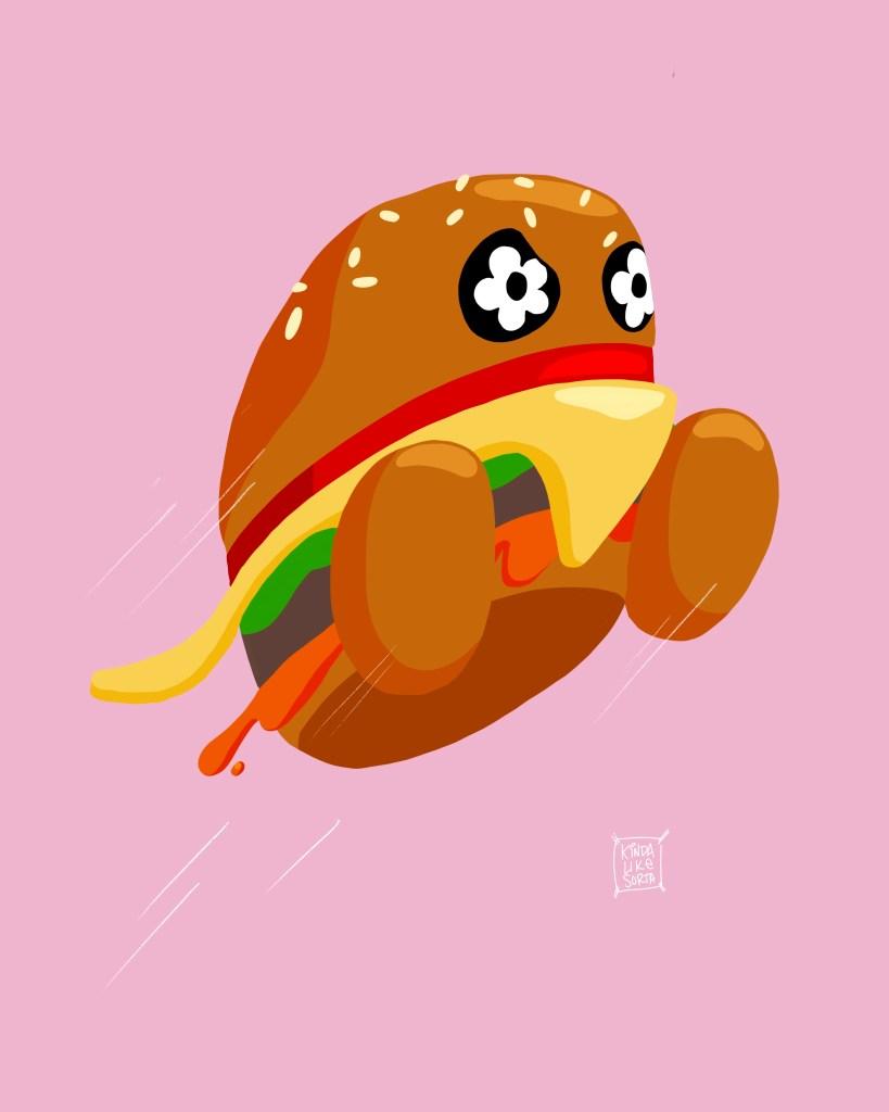 Vandy the Burger mascot illustration