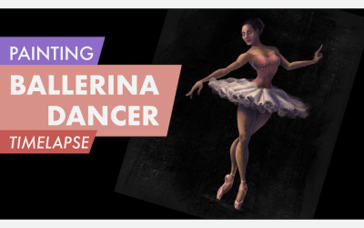 Painting a Ballerina in Procreate | Timelapse Video