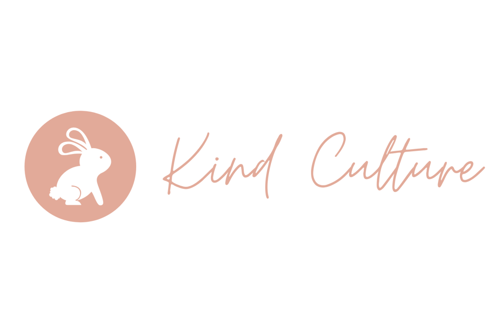 kind culture bunny label logo
