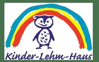Logo des Kinder-Lehm-Haus - eine Eule unter einem Regenbogen