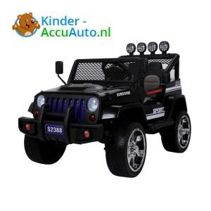 Monster Jeep Zwart Kinderauto 1