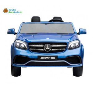 Kinder accu auto mercedes gls 63 blauw 1