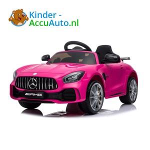 Elektrische kinderauto mercedes GTR AMG roze 1