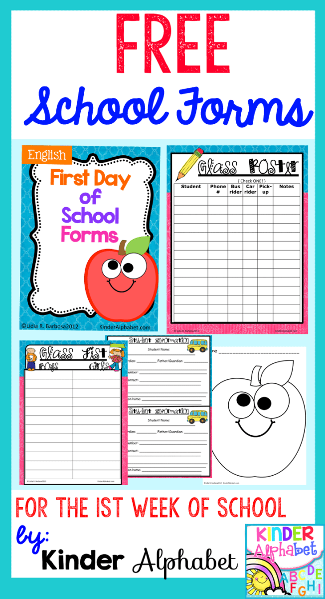 First Day Of School Lesson Plans Ideas And Freebies