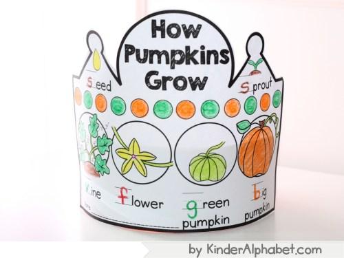 pumkin thematic units crowns for kindergarten