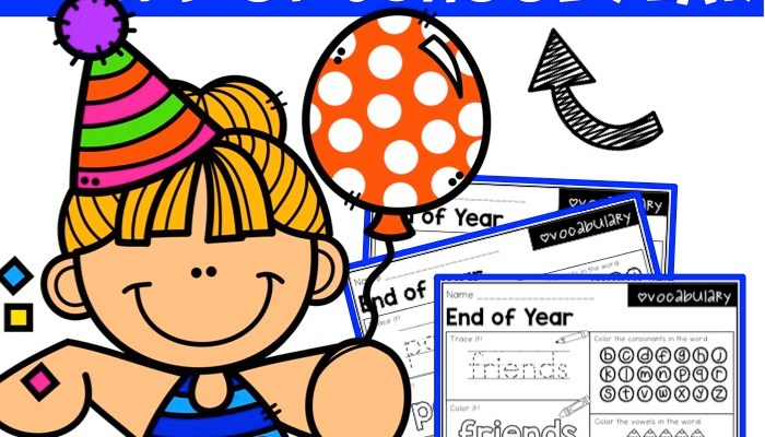 End of Year Word Work Printables