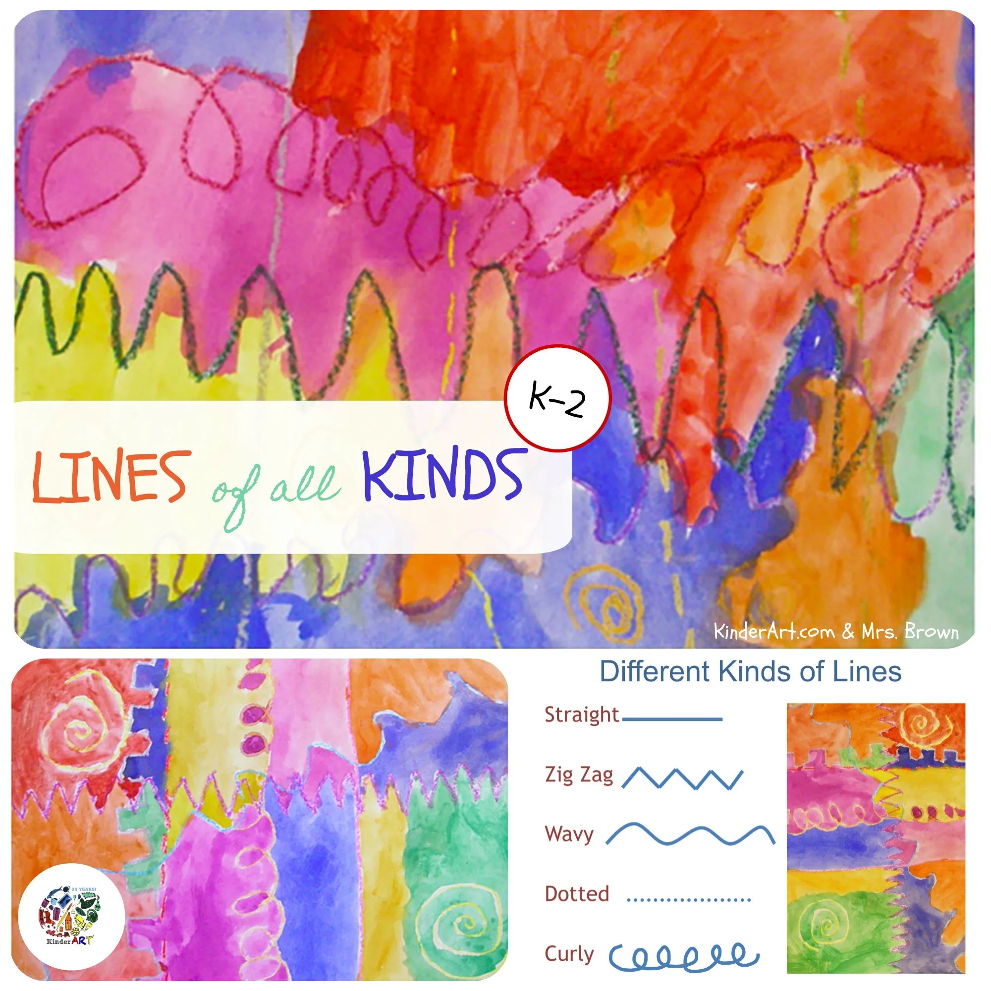 Drawing Lines Art Lesson Plan For Children