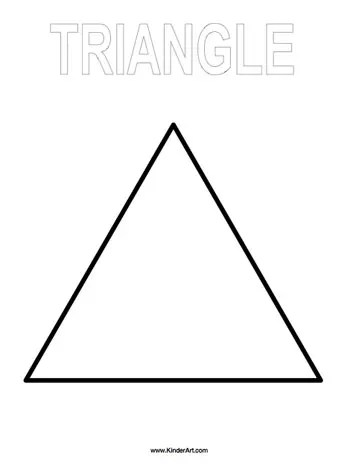 triangle coloring page # 0