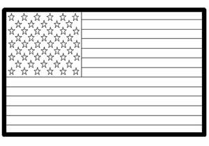 Usa American Flag Coloring Page Kinderart