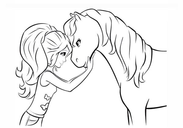 Раскраска лошадь. Раскраски для девочек: пони и лошадки