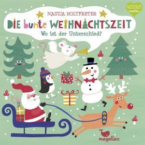 Die bunte Weihnachtszeit - Wo ist der Unterschied, ein Rätselbuch mit Suchbildern