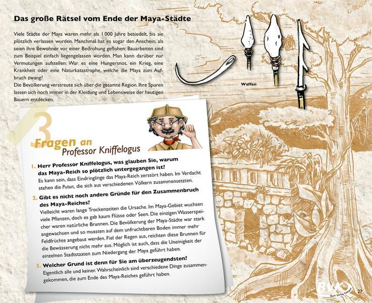 Kinderbuch Sachbuch über Indianer - Maya, Azteken und Inka