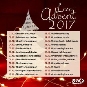 Blogger-Adventskalender Buch Verlag Kempen BVK