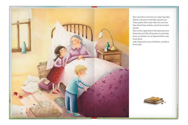 Oma ist krank und wird bald sterben, aus dem Bilderbuch Ein Himmel für Oma