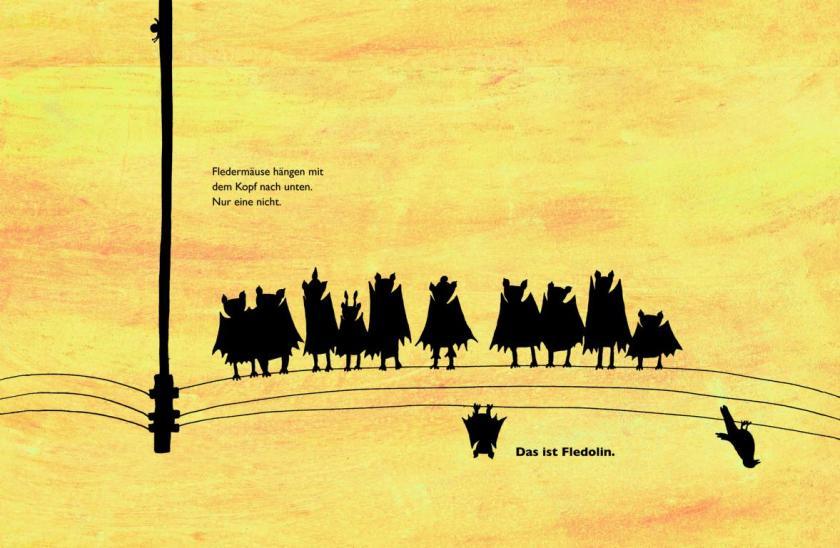 Fledolin verkehrt herum, ein Bilderbuch zum Thema Anderssein von Antje Damm