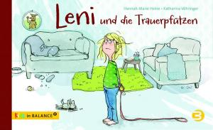 """Leni ist traurig, weil ihre Hündin Frieda gestorben ist. Das Bilderbuch """"Leni und die Trauerpfützen"""" zeigt einen Weg, mit dem Gefühlschaos umzugehen."""