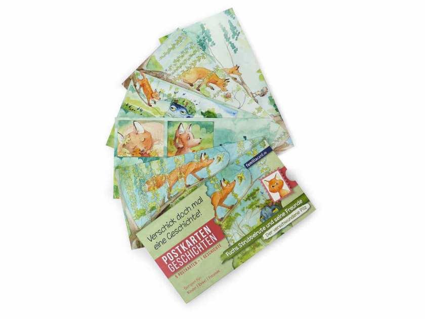 Postkartengechichte mit Fuchs